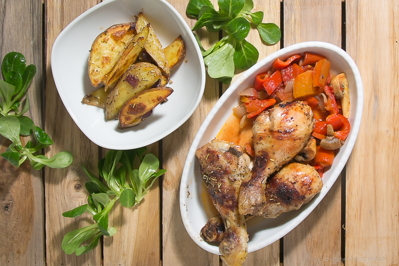 Chicken Drumsticks and Vegetables