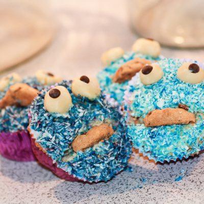 Kochen- Ganz einfach! Krümelmonster-Cupcakes