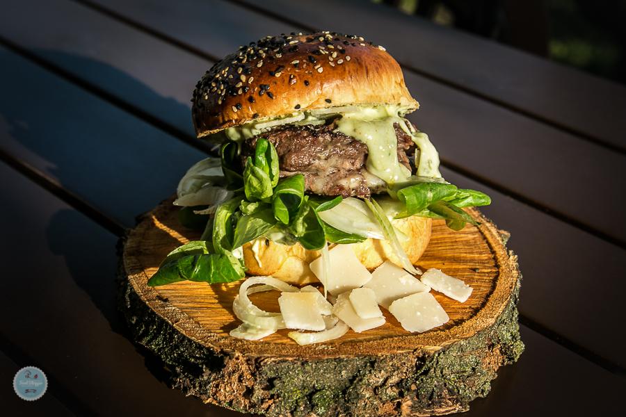 Bärlauch Burger vom Grill