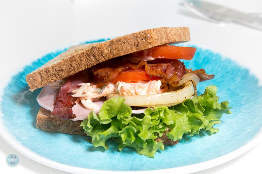 Kochen? Ganz einfach! Sandwich Egg and Bacon